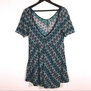 Free People Knit Boho Dress / Tunic Top